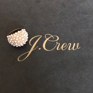 J.Crew Rose Gold and Pearl Statement Ring
